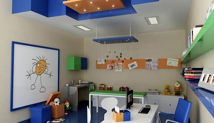 Modern nursery/kids room by Entretrazos Modern