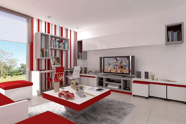 Nursery/kid's room by Entretrazos, Modern