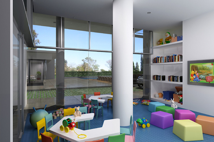 Renders interiores Dormitorios infantiles modernos: de Entretrazos Moderno