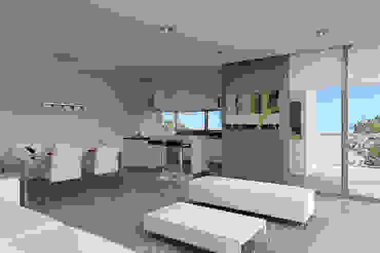 Renders interiores Comedores modernos de Entretrazos Moderno