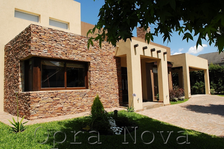 Fachada Exterior Casas modernas de Opra Nova - Arquitectos - Buenos Aires - Zona Oeste Moderno