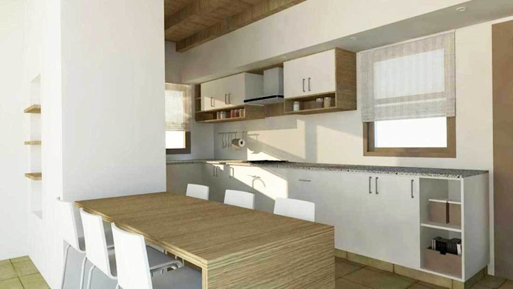 Proyectos de interiores varios Comedores modernos de ZYX estudio Moderno