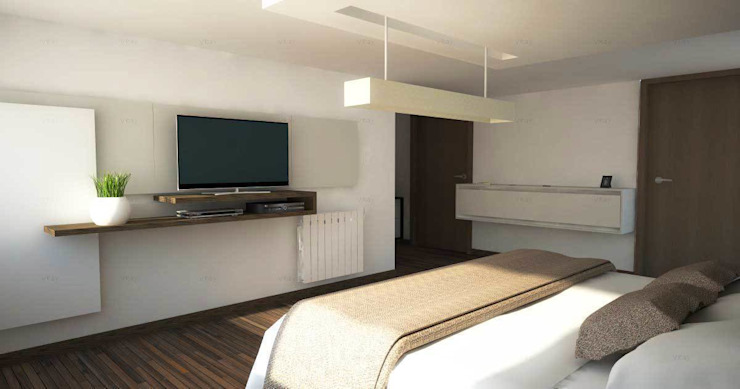 Proyectos de interiores varios Dormitorios modernos: Ideas, imágenes y decoración de ZYX estudio Moderno