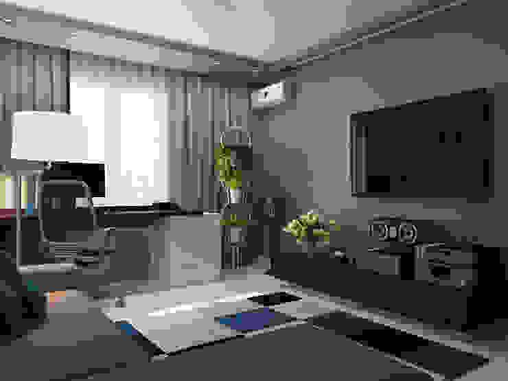 Salas de estar ecléticas por Оксана Мухина Eclético