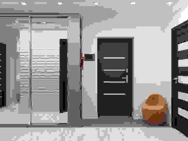Квартира двухкомнатная для молодой семьи Коридор, прихожая и лестница в эклектичном стиле от Оксана Мухина Эклектичный