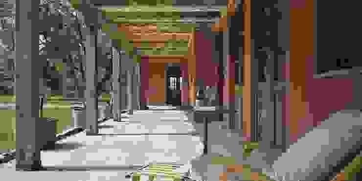Bórmida & Yanzón arquitectos Rustic style corridor, hallway & stairs