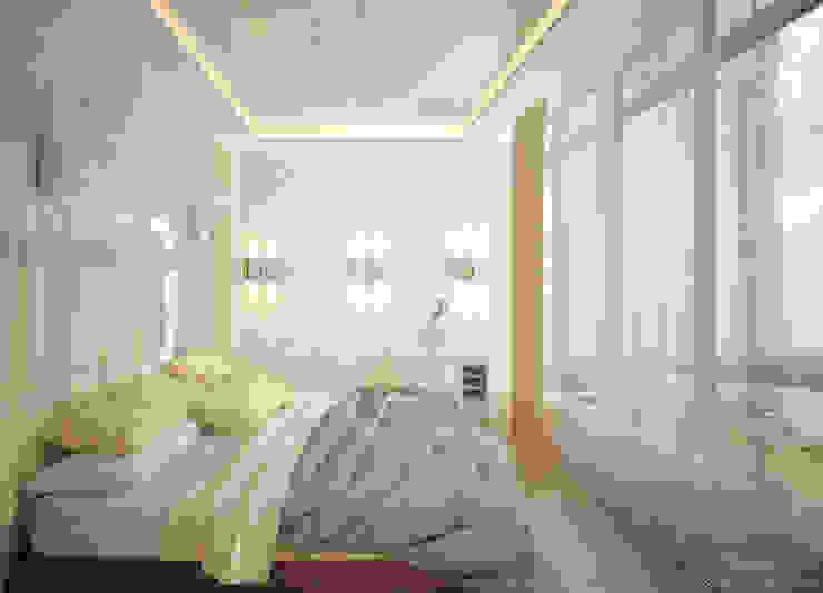 """Дизайн спальни в современном стиле в ЖК """"Новый город"""" (Краснодар) Спальня в стиле модерн от Студия интерьерного дизайна happy.design Модерн"""