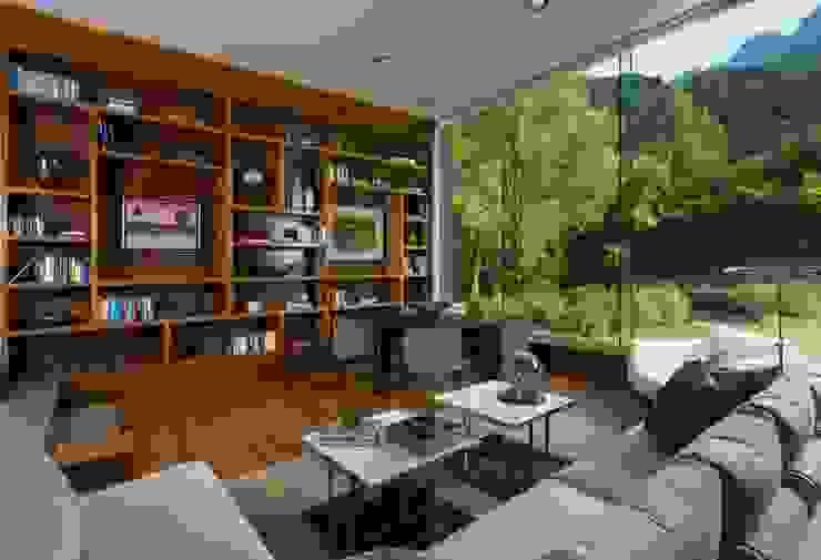 Casa BC Estudios y despachos modernos de GLR Arquitectos Moderno