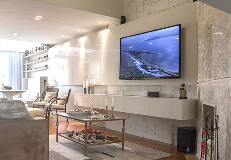 Bloco Z Arquitetura Living roomTV stands & cabinets