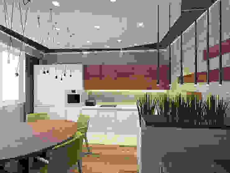Квартира в ЖК <q>Дирижабль</q> Кухня в стиле минимализм от AFTER SPACE Минимализм