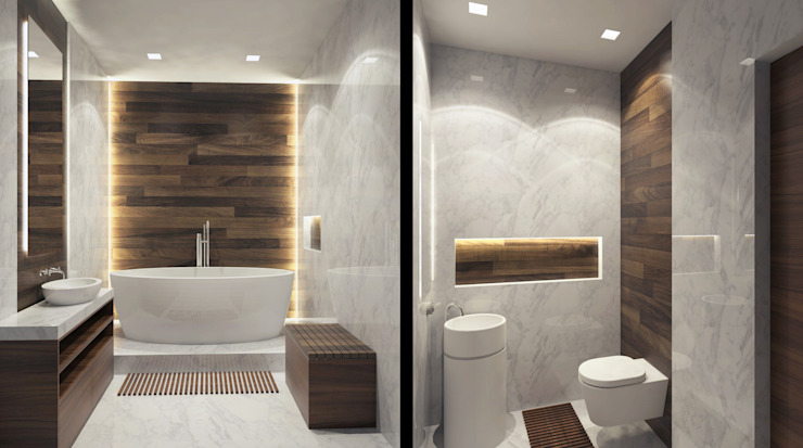 AFTER SPACE Minimalist style bathrooms