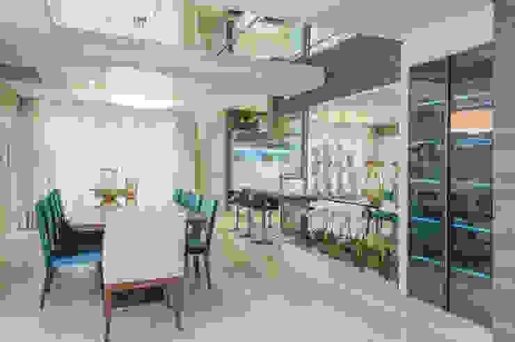 Integração jantar/cozinha Salas de jantar modernas por Élcio Bianchini Projetos Moderno