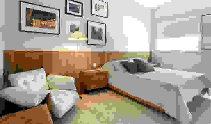 Apartamento Ministro Godói Quartos modernos por Natalia Necco Arquitetura Moderno