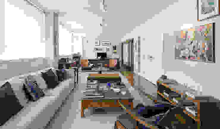 Apartamento Ministro Godói Salas de estar modernas por Natalia Necco Arquitetura Moderno