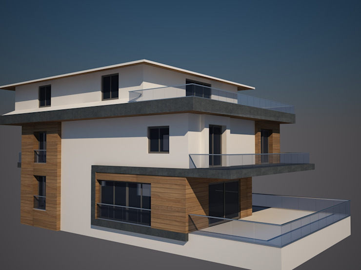 cephe çalışması Modern Evler CANSEL BOZKURT interior architect Modern