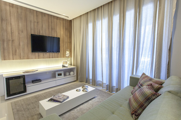 Condominio Laffite Salas de estar modernas por POCHE ARQUITETURA Moderno