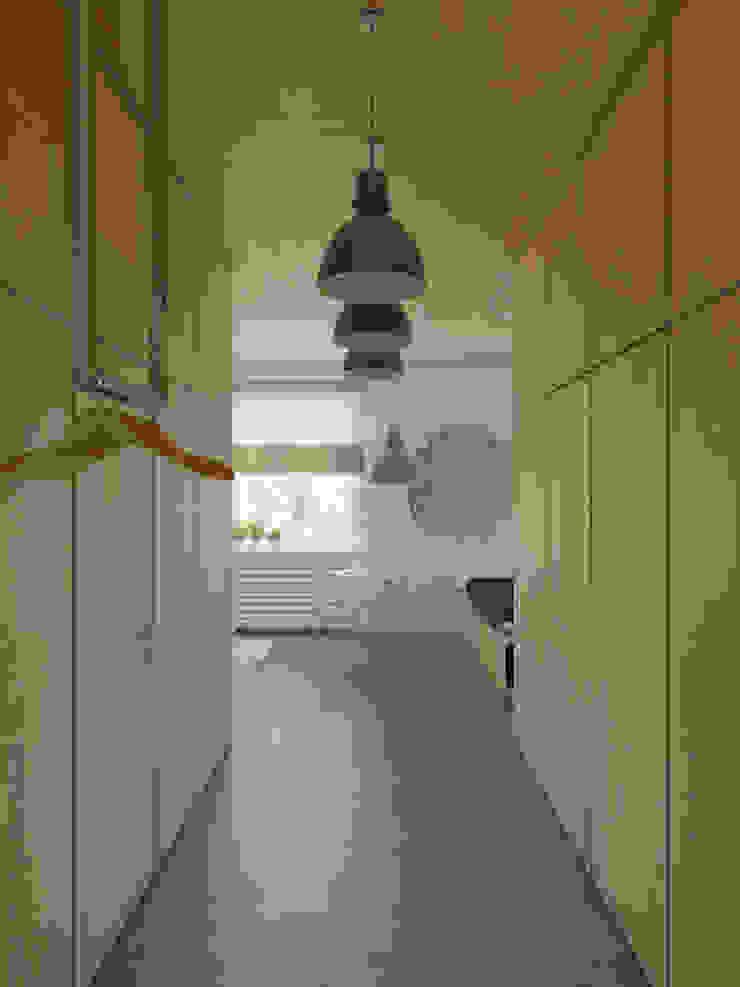 Corredores, halls e escadas ecléticos por Anton Medvedev Interiors Eclético