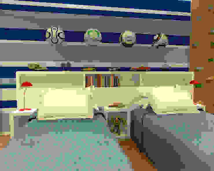 Quarto Gêmeos – Copacabana RJ Quarto infantil moderno por Konverto Interiores + Arquitetura Moderno