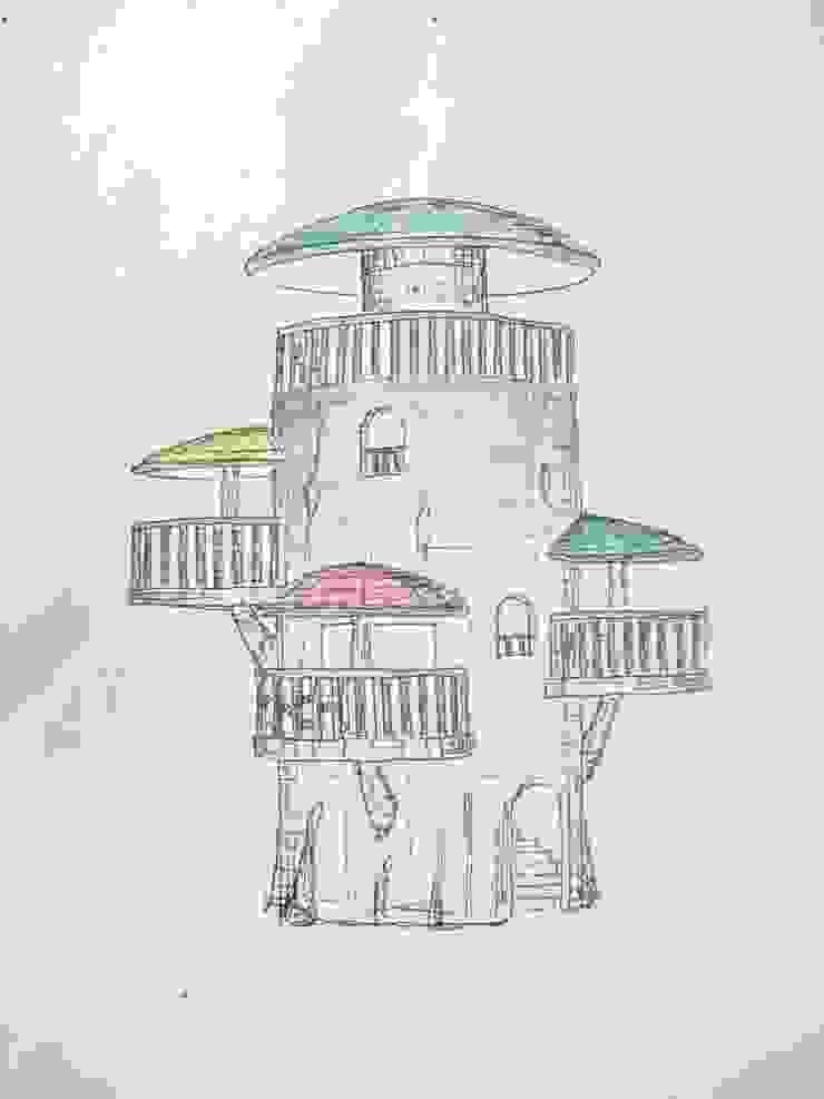 巨木の隠れ家: (株)スペースデザイン設計(一級建築士事務所)が手掛けた地中海です。,地中海