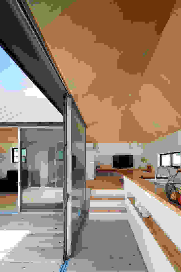 箕面森町の家 モダンデザインの テラス の 安部秀司建築設計事務所 モダン