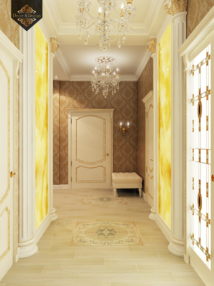 Classic style corridor, hallway and stairs by Decor&Design Classic