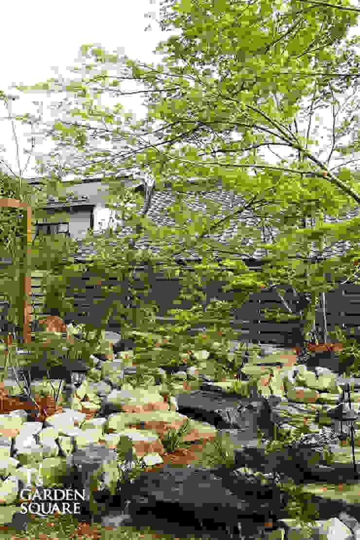 池とせせらぎのある暮らし|へーベルハウス雑木の庭の作り方 アジア風 庭 の T's Garden Square Co.,Ltd. 和風