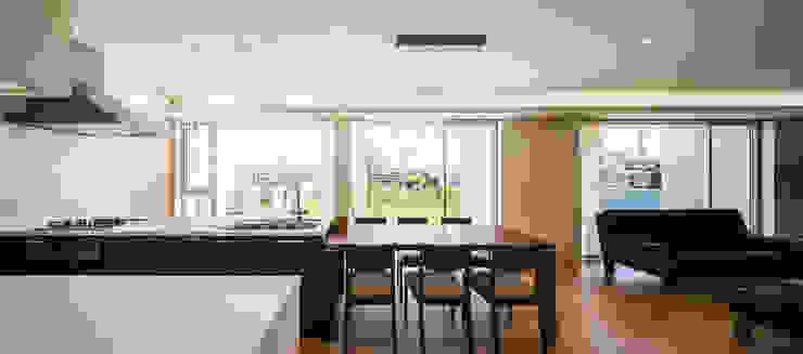 白珪の家 オリジナルデザインの ダイニング の 梶浦博昭環境建築設計事務所 オリジナル