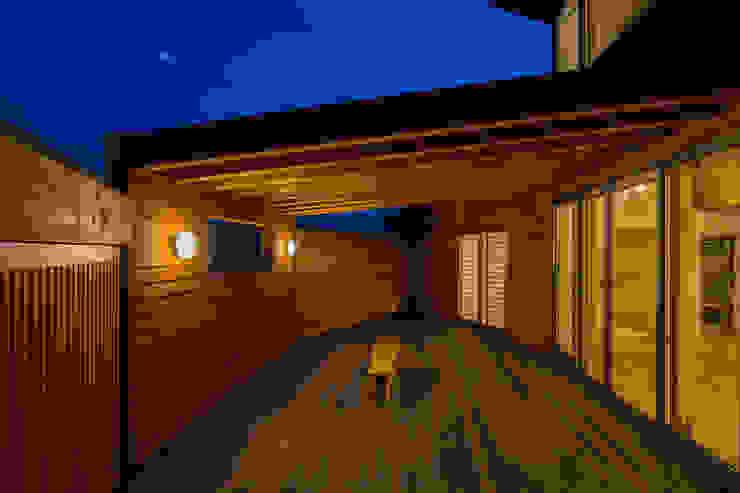 開花の家 オリジナルデザインの テラス の 梶浦博昭環境建築設計事務所 オリジナル