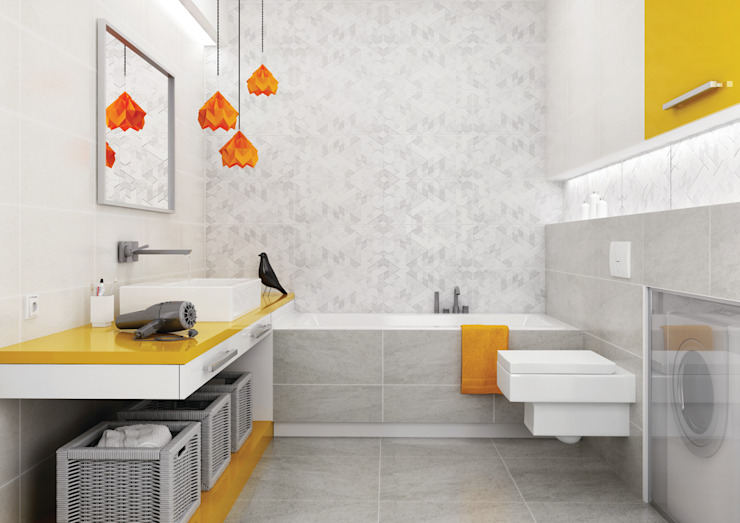 Ceramika Paradyż Eclectic style bathroom