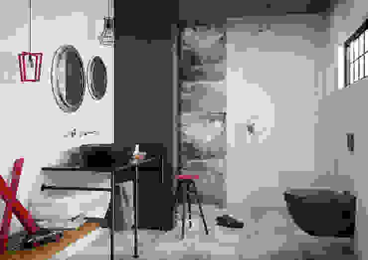 Kolekcja Manteia Eklektyczna łazienka od Ceramika Paradyż Eklektyczny
