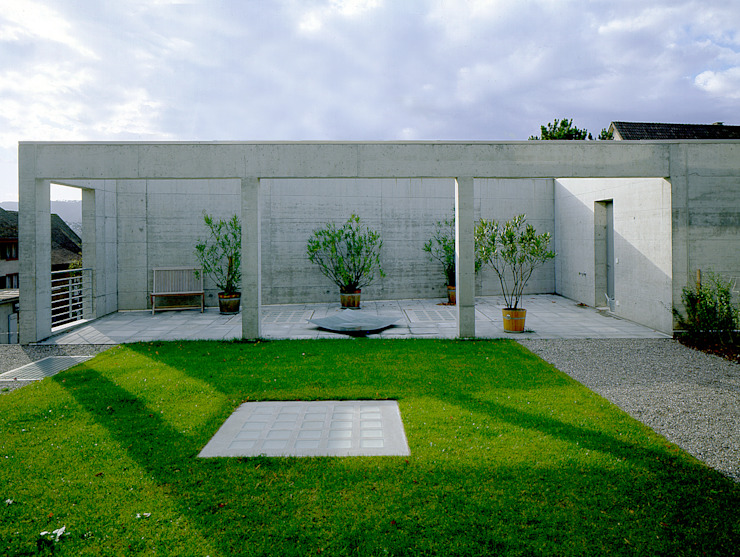 Housing with a studio, Zürich Modern garden by Bob Gysin + Partner BGP Modern