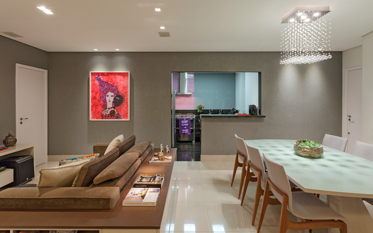 Apartamento .RF Salas de estar modernas por Amis Arquitetura e Decoração Moderno