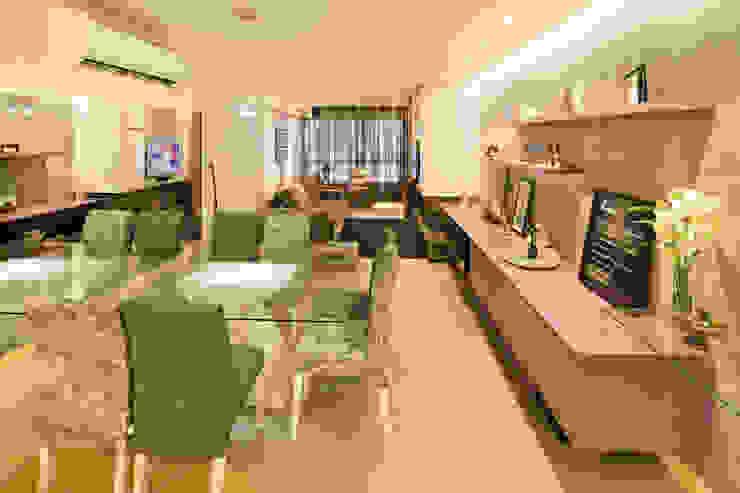 Sala da pranzo moderna di Caroline Vargas | C. Arquitetura Moderno
