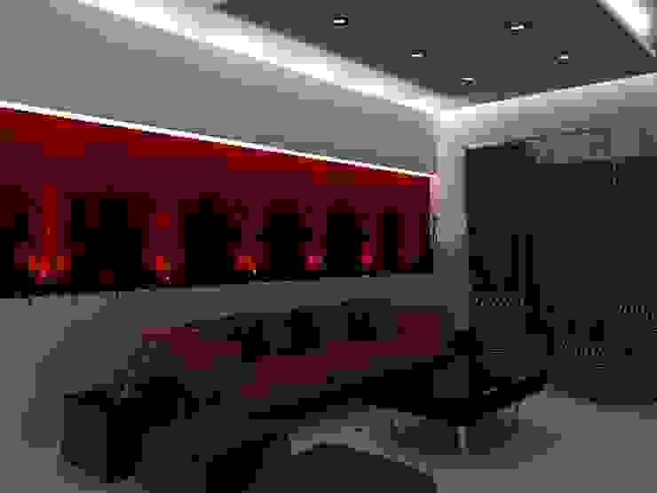 Appartement audi Salle multimédia moderne par michel bandaly Moderne