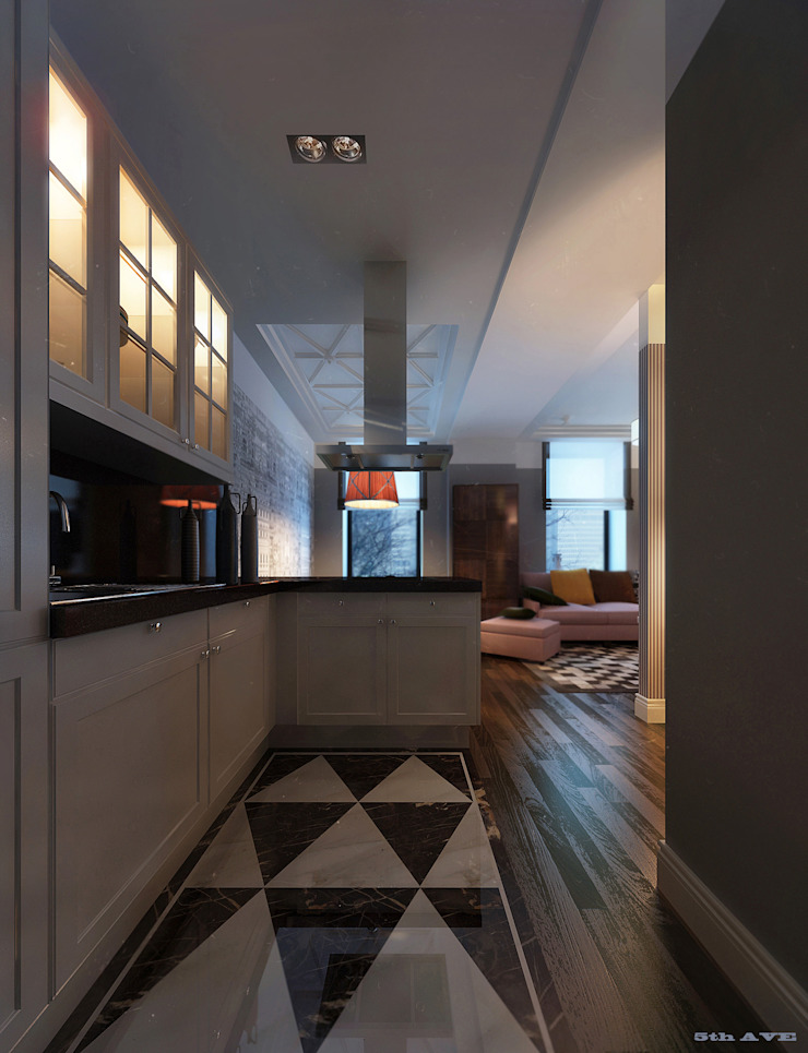 NYC. 5-th Ave Кухни в эклектичном стиле от KAPRANDESIGN Эклектичный