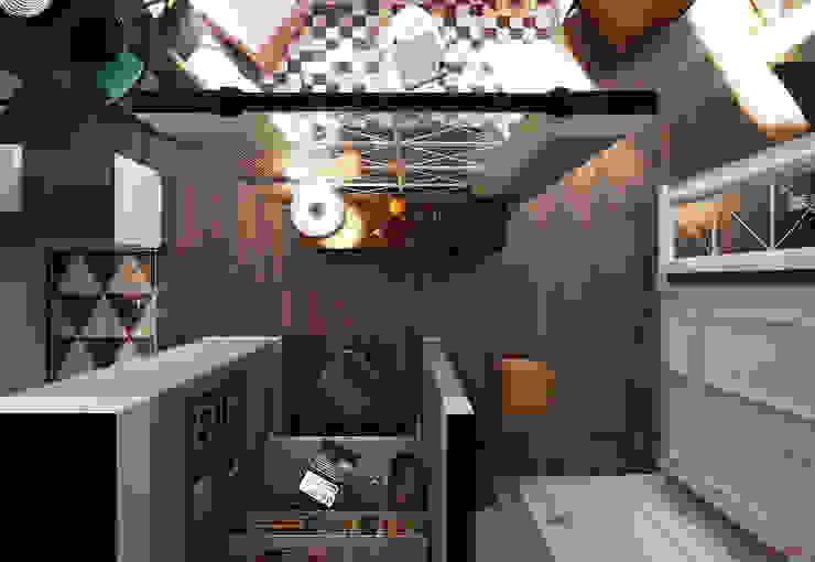 NYC. 5-th Ave Гостиные в эклектичном стиле от KAPRANDESIGN Эклектичный