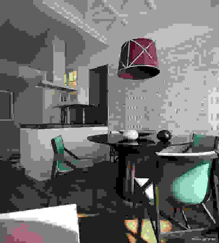 NYC. 5-th Ave Столовая комната в эклектичном стиле от KAPRANDESIGN Эклектичный