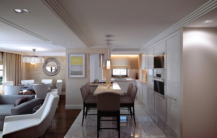 NYC. East 40th Street Кухня в классическом стиле от KAPRANDESIGN Классический