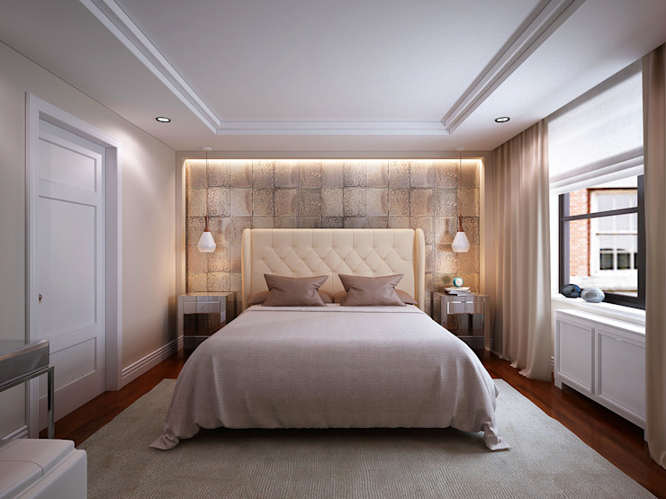 NYC. East 40th Street Спальня в стиле модерн от KAPRANDESIGN Модерн
