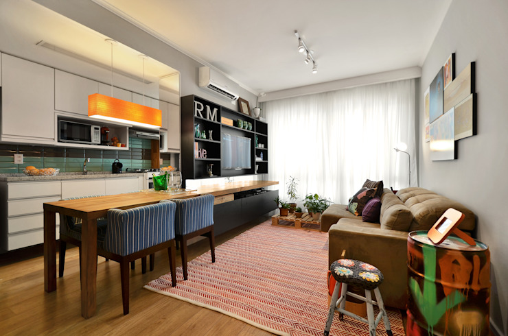 Ruang Keluarga Modern Oleh CR Arquitetura&paisagismo Modern