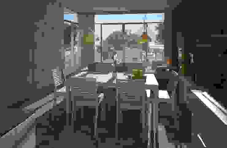 Comedor, casa Kompa-Enríquez: Comedores de estilo  por Axios Arquitectos, Moderno