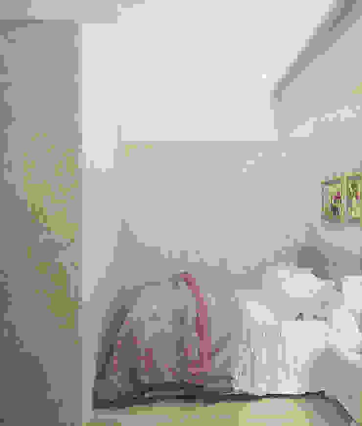 Квартира в поселке Жуковский Московской области Спальня в эклектичном стиле от Симуков Святослав частный дизайнер интерьера Эклектичный