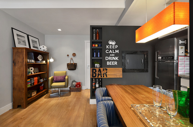 Ruang Makan Modern Oleh CR Arquitetura&paisagismo Modern