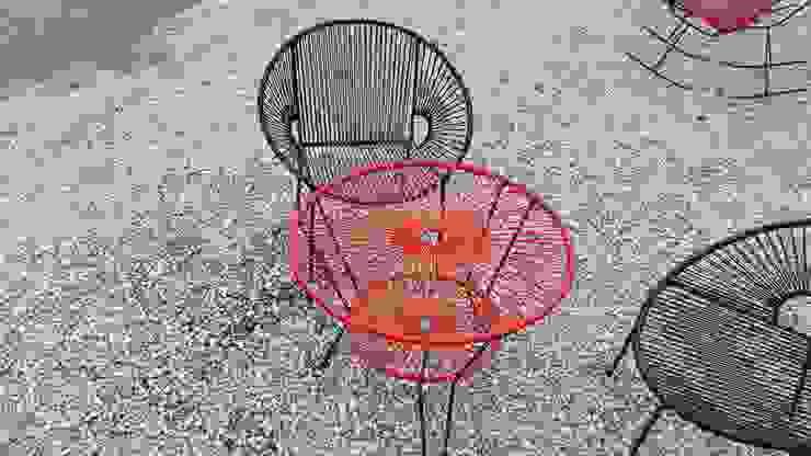Silla y mesa acapulco:  de estilo tropical por Diseñería 72ocho10, Tropical Plástico