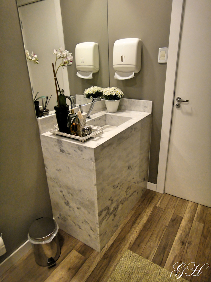 Rustic style bathroom by Gabriela Herde Arquitetura & Design Rustic Marble