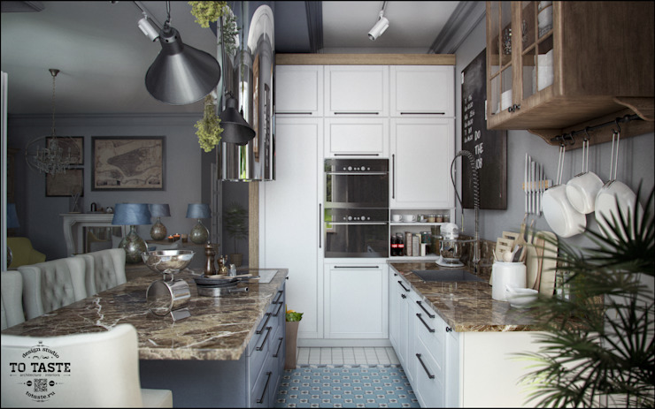 Projekty,  Kuchnia zaprojektowane przez ToTaste.studio, Kolonialny