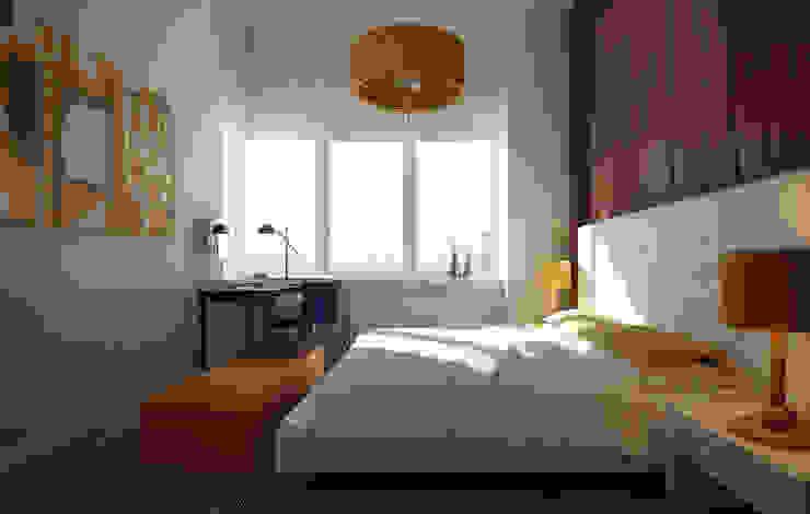 NYC. The silence Спальня в стиле минимализм от KAPRANDESIGN Минимализм Изделия из древесины Прозрачный