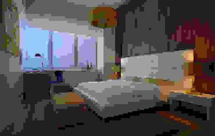 NYC. The silence Спальня в стиле минимализм от KAPRANDESIGN Минимализм Дерево Эффект древесины