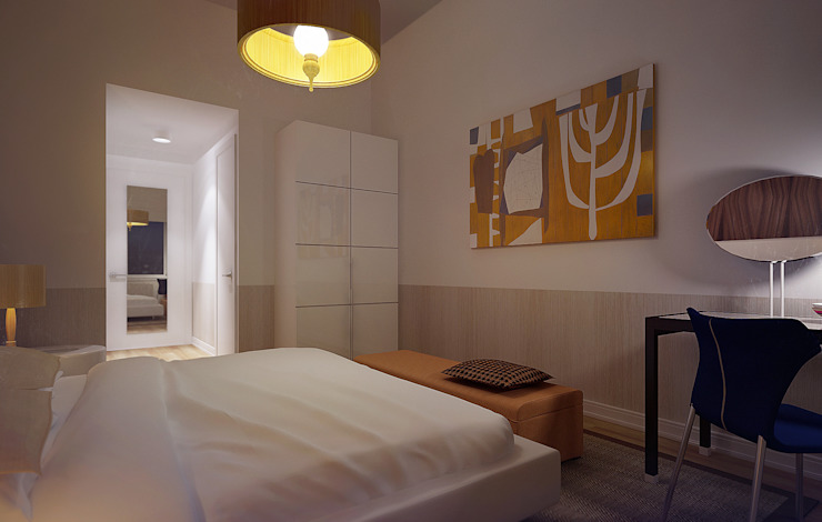 NYC. The silence Спальня в стиле минимализм от KAPRANDESIGN Минимализм