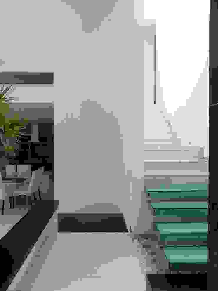 ARKIZA ARQUITECTOS by Arq. Jacqueline Zago Hurtado Koridor & Tangga Minimalis Kaca Green